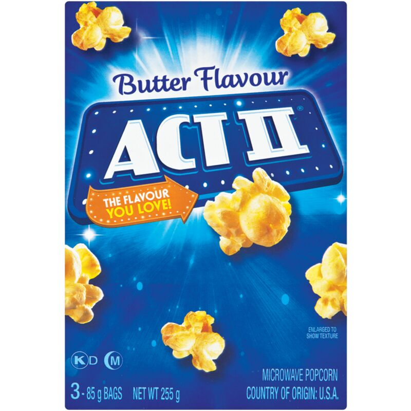 ACT II MICROWAVE POPCORN BUTTER – 3S