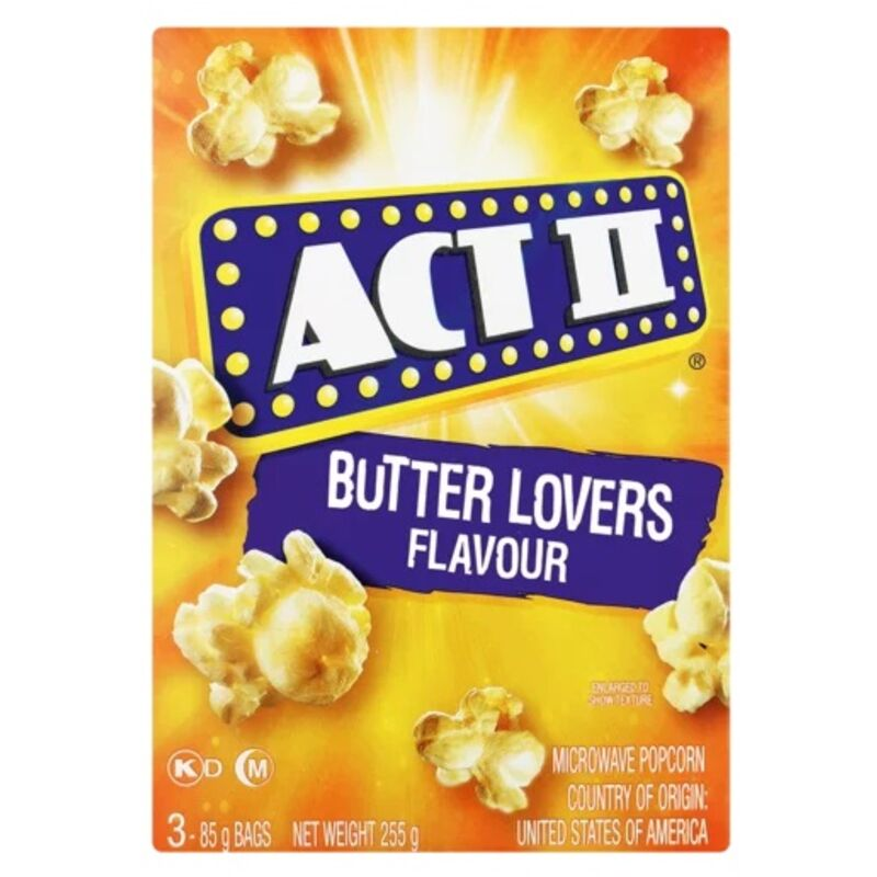 ACT II MICROWAVE POPCORN BUTTER LOVER – 3S