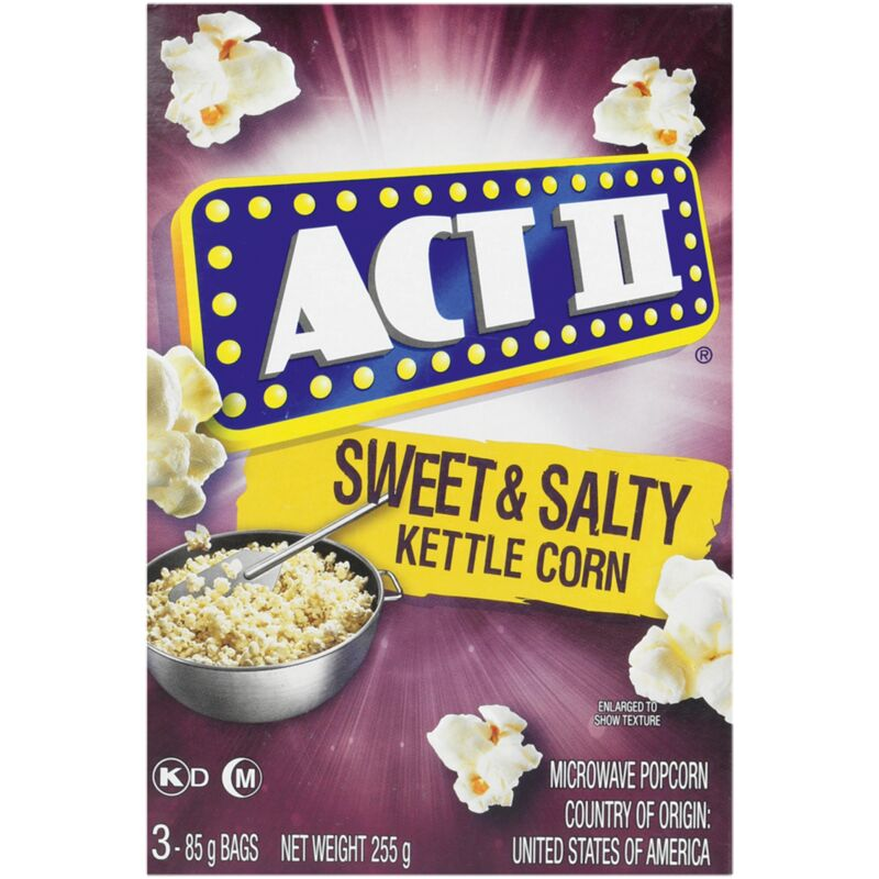 ACT II MICROWAVE POPCORN SWEET & SALTY – 3S