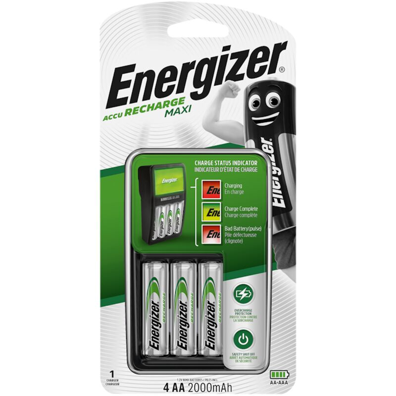 ENERGIZER CHARGER MAXI CHARGER WITH 4X2000MAH AA – 1S