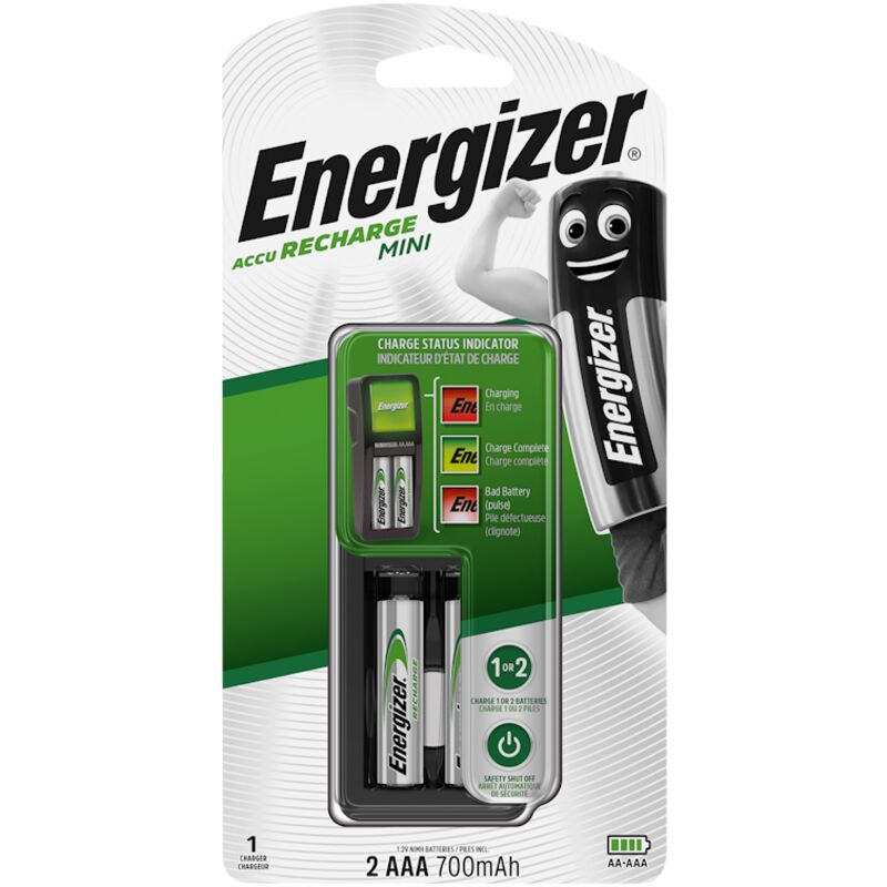 ENERGIZER MINI CHARGER WITH 2X700MAH AAA – 1S