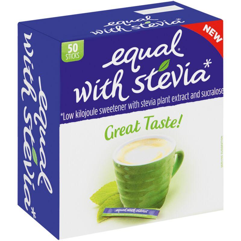 EQUAL STEVIA LOW CAL SWEETENER STICKS – 50S