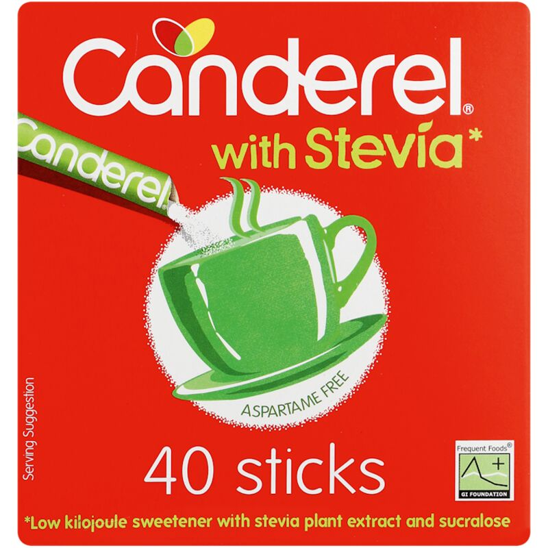 CANDEREL SWEETENER STEVIA STICK LK – 40S