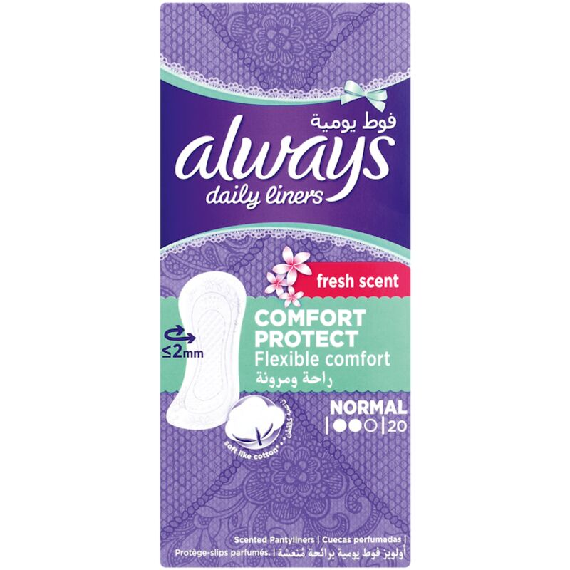 ALWAYS NORMAL PANTY LINERS SCENTED – 20S