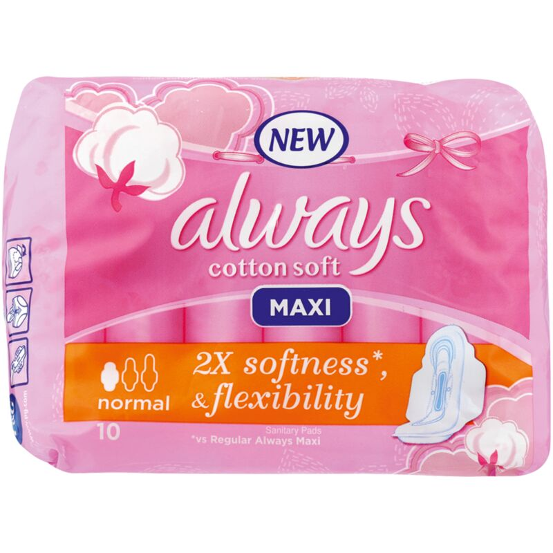 ALWAYS MAXI SOFT NORMAL PADS – 10S
