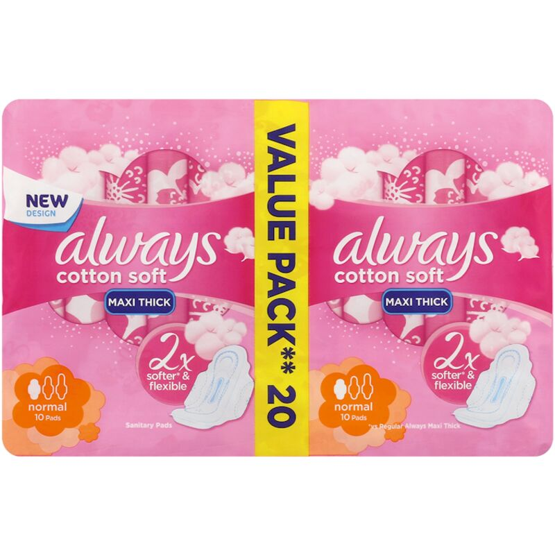 ALWAYS MAXI SOFT NORMAL PADS – 20S
