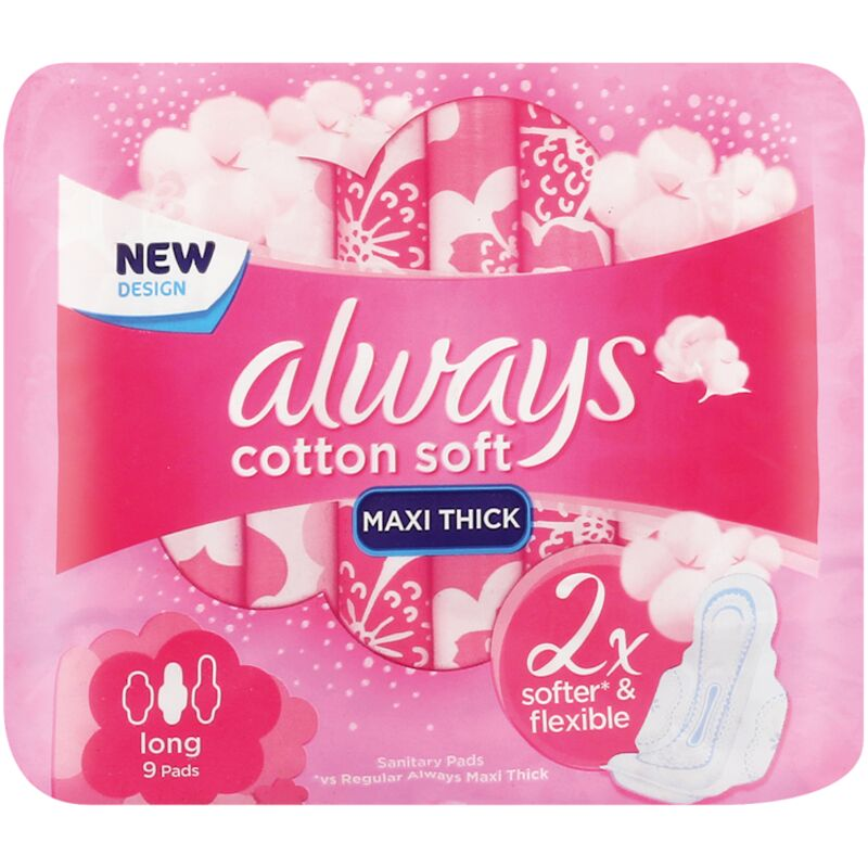 ALWAYS MAXI SOFT LONG PADS – 9S