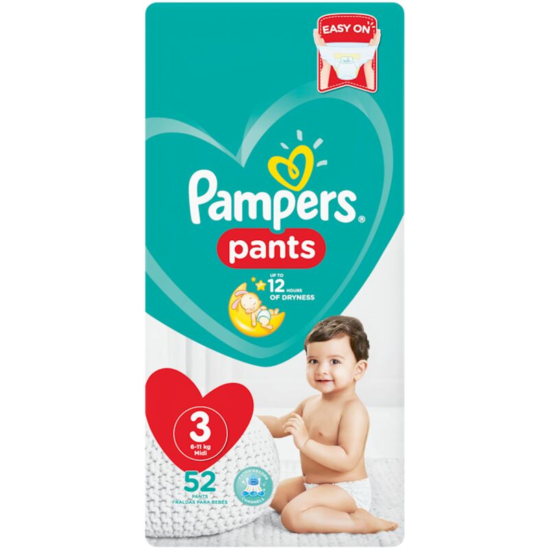 PAMPERS ACTIVE BABY PANTS SIZE 3 VP – 52S