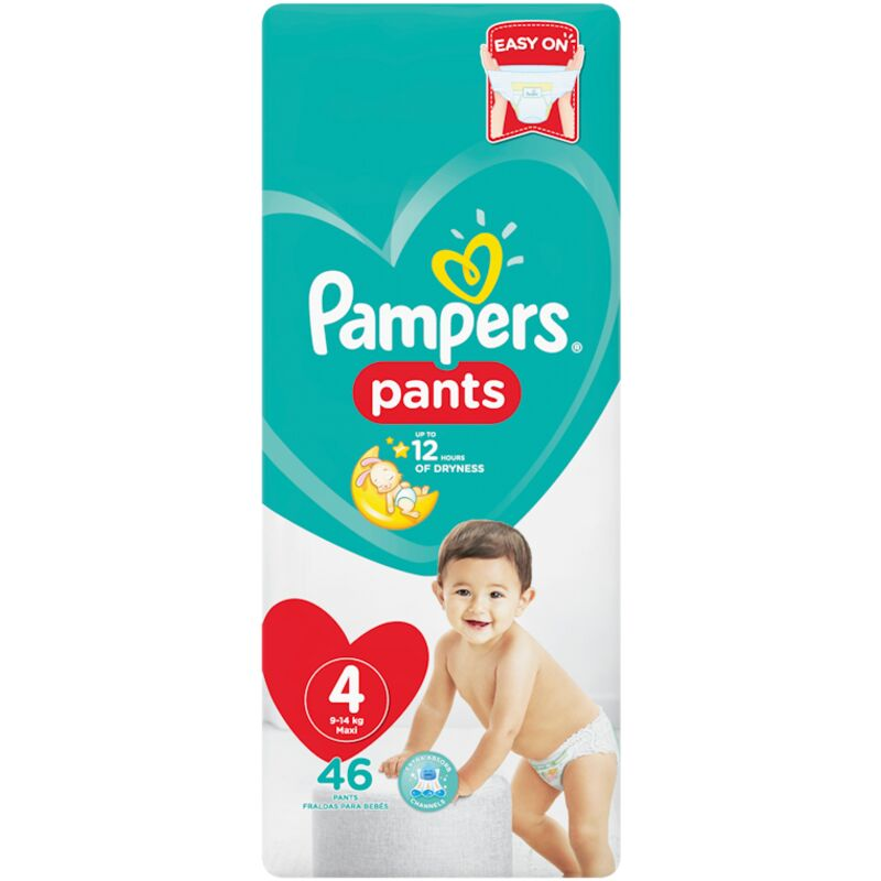 PAMPERS ACTIVE BABY PANTS SIZE 4 VP – 46S