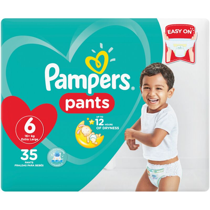 PAMPERS ACTIVE BABY PANTS SIZE 6 VP – 35S