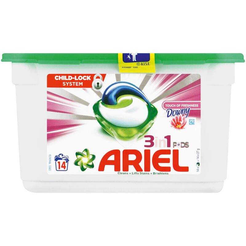 ARIEL POWER CAPSULES TOUCH OF DOWNY – 14S