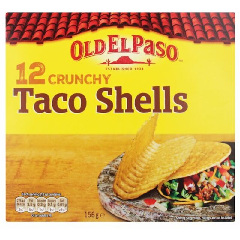 OLD EL PASO CRUNCHY TACO SHELLS – 156G