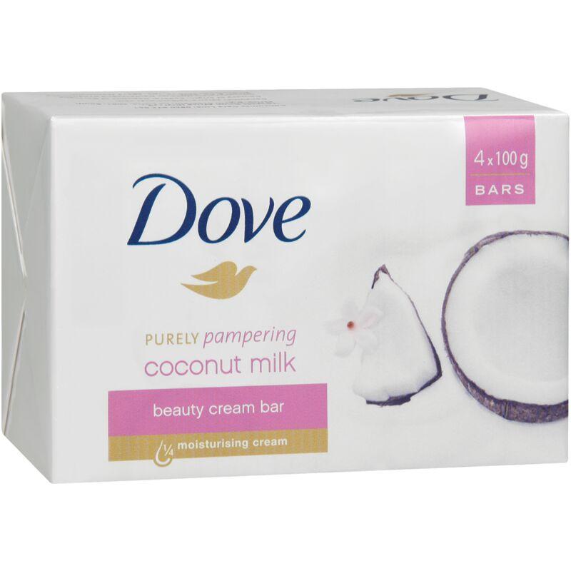 DOVE SOAP COCONUT MILK 4S – 100G