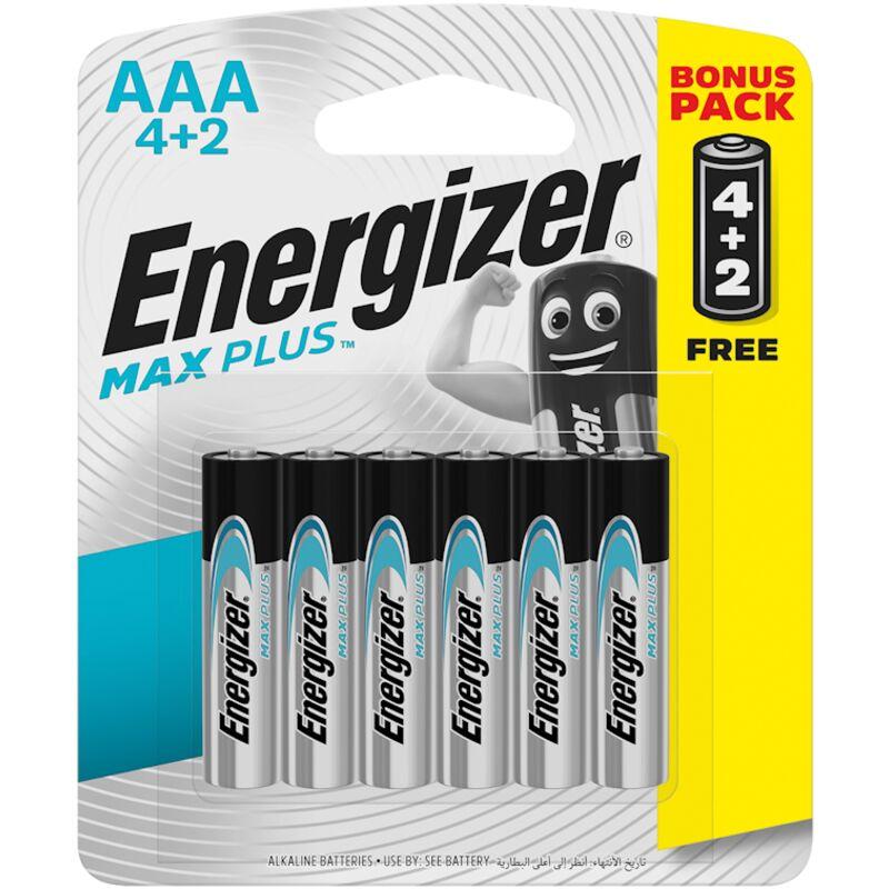 ENERGIZER MAXPLUS 6 PACK AAA 4+2 FREE – 6S