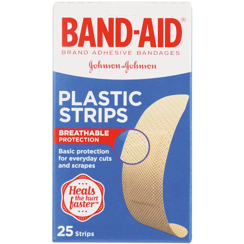 BAND AID PLASTERS PLASTIC – 25S