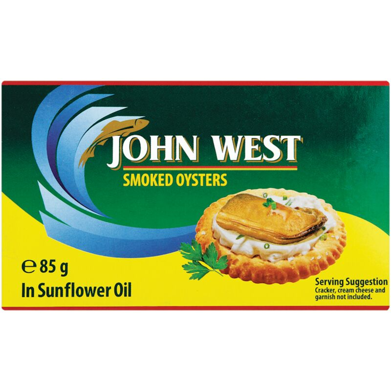 JOHN WEST OYSTER SMOKED – 85G