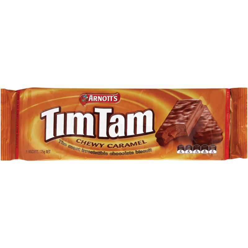 ARNOTTS TIM TAM CHEWY CARAMEL BISCUIT – 175G