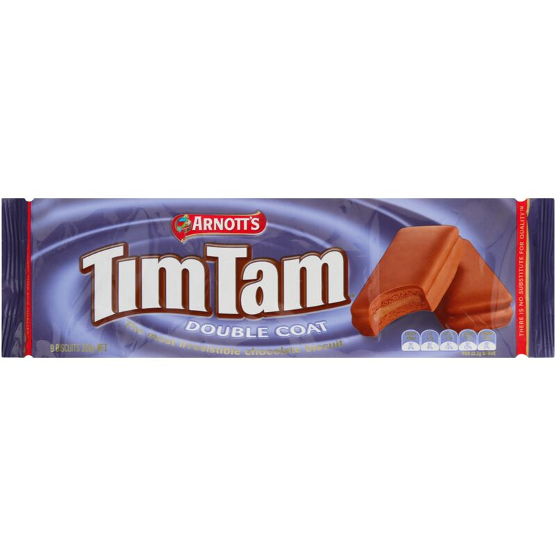 ARNOTTS TIM TAM DOUBLE CHOCOLATE – 165G