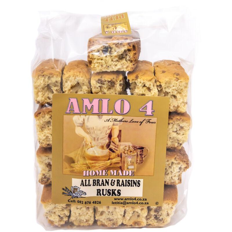 AMLO ALL BRAN & RAISIN RUSKS – 450G