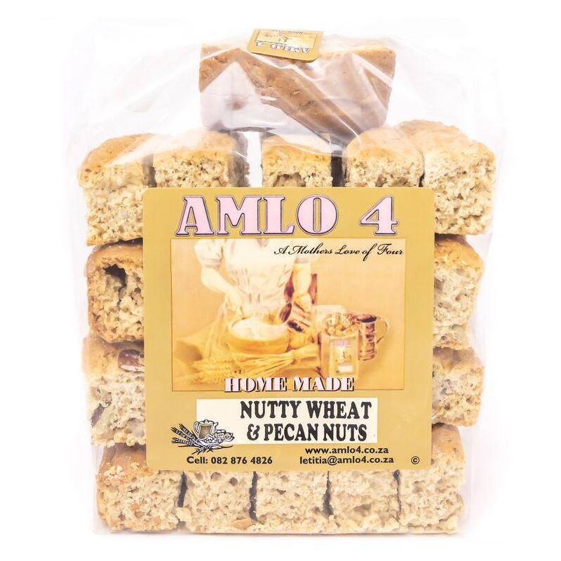 AMLO NUTTY WHEAT & PECAN NUT RUSKS – 500G