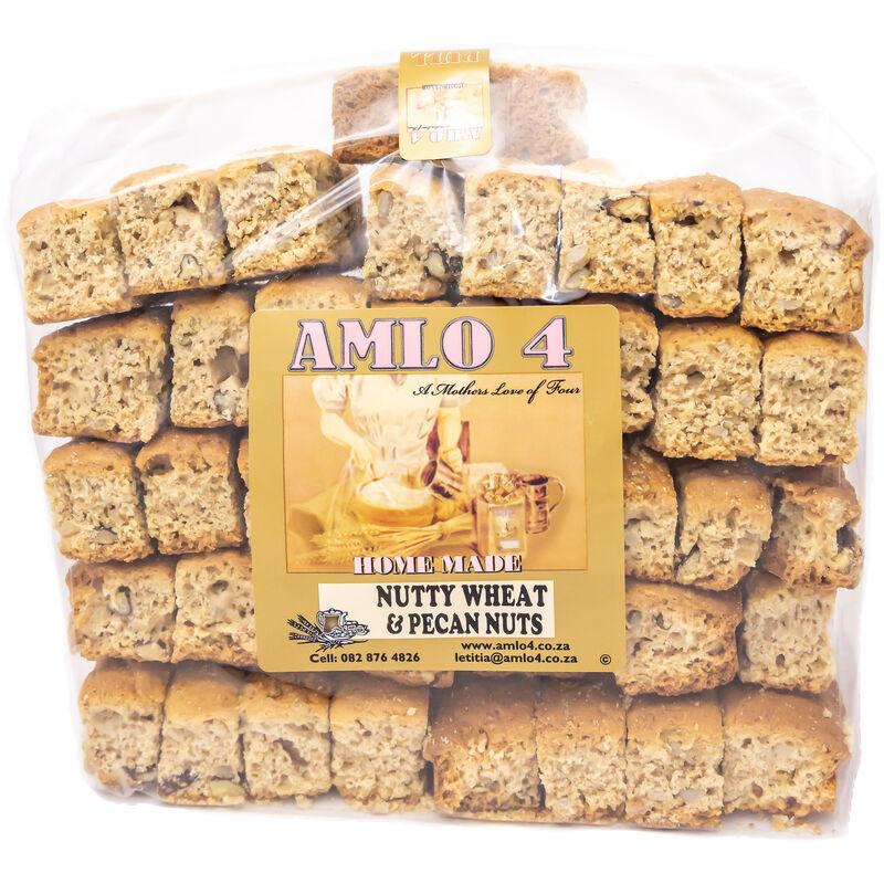 AMLO NUTTY WHEAT & PECAN NUT RUSKS – 1KG