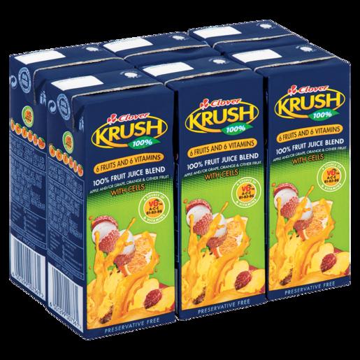 KRUSH 100%UHT 6 FRUIT VITAMIN 6S – 200ML
