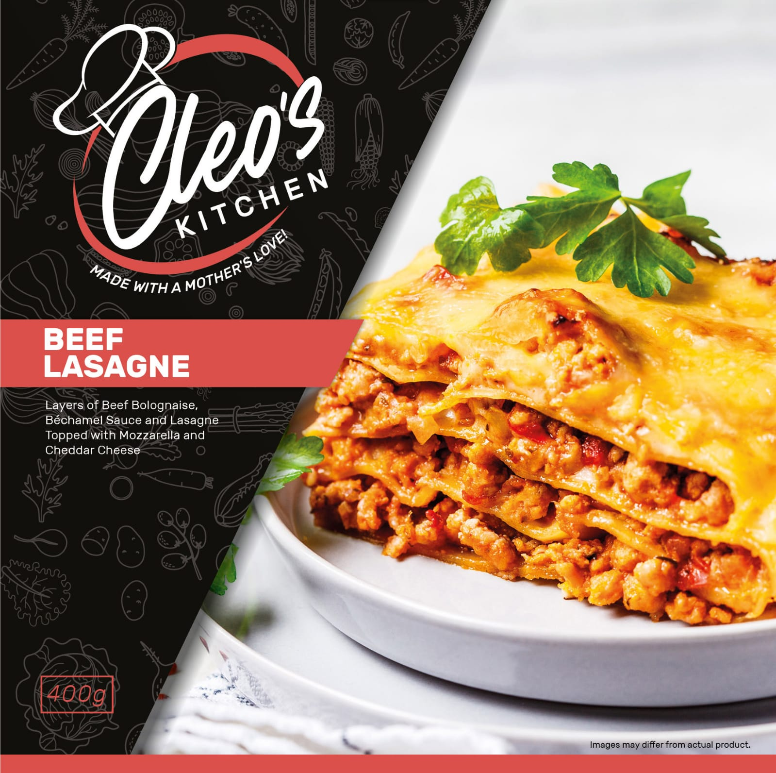 CLEO'S BEEF LASAGNE – 400G