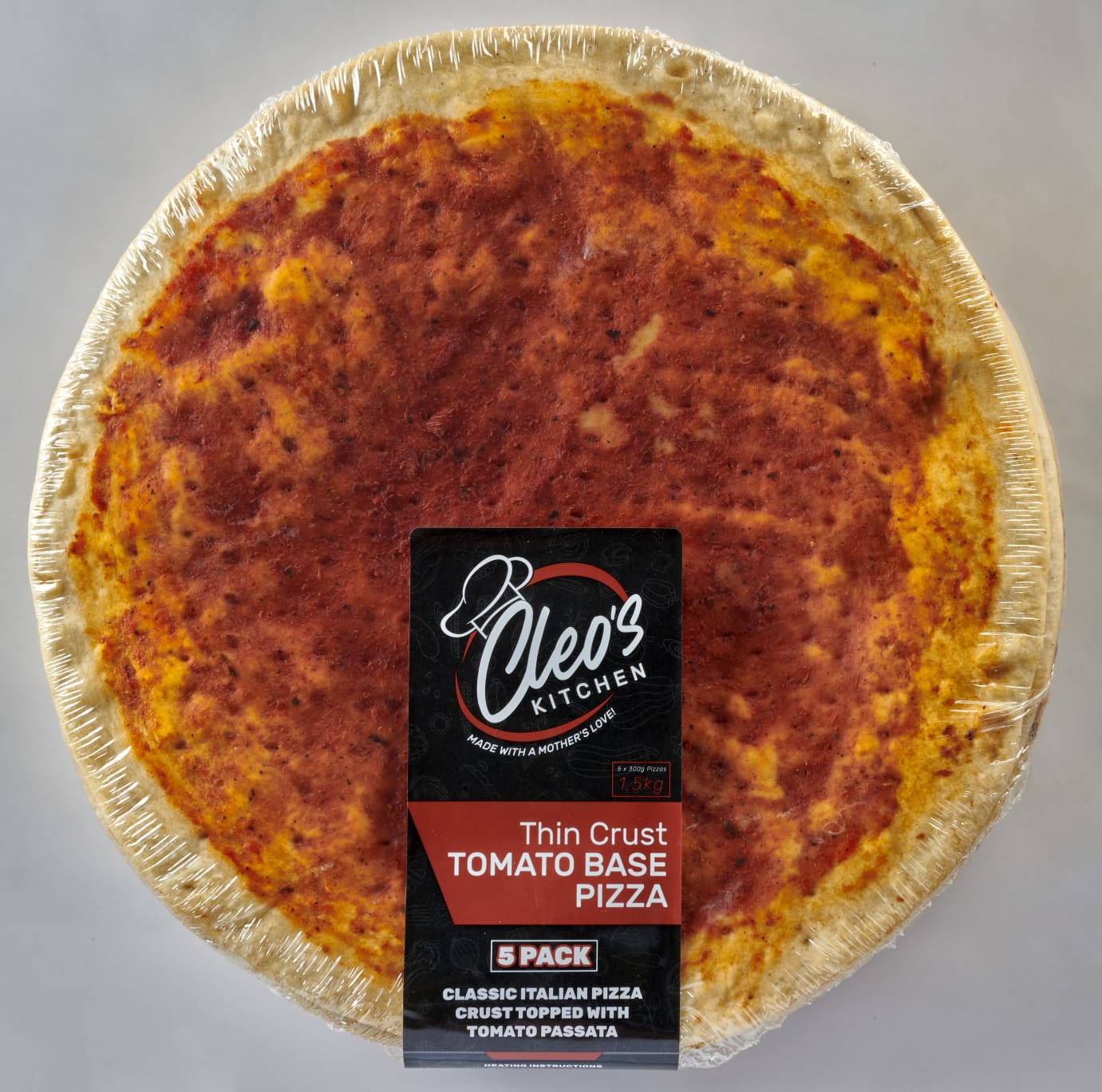 CLEO'S THIN CRUST TOMATO BASE – 1.5KG